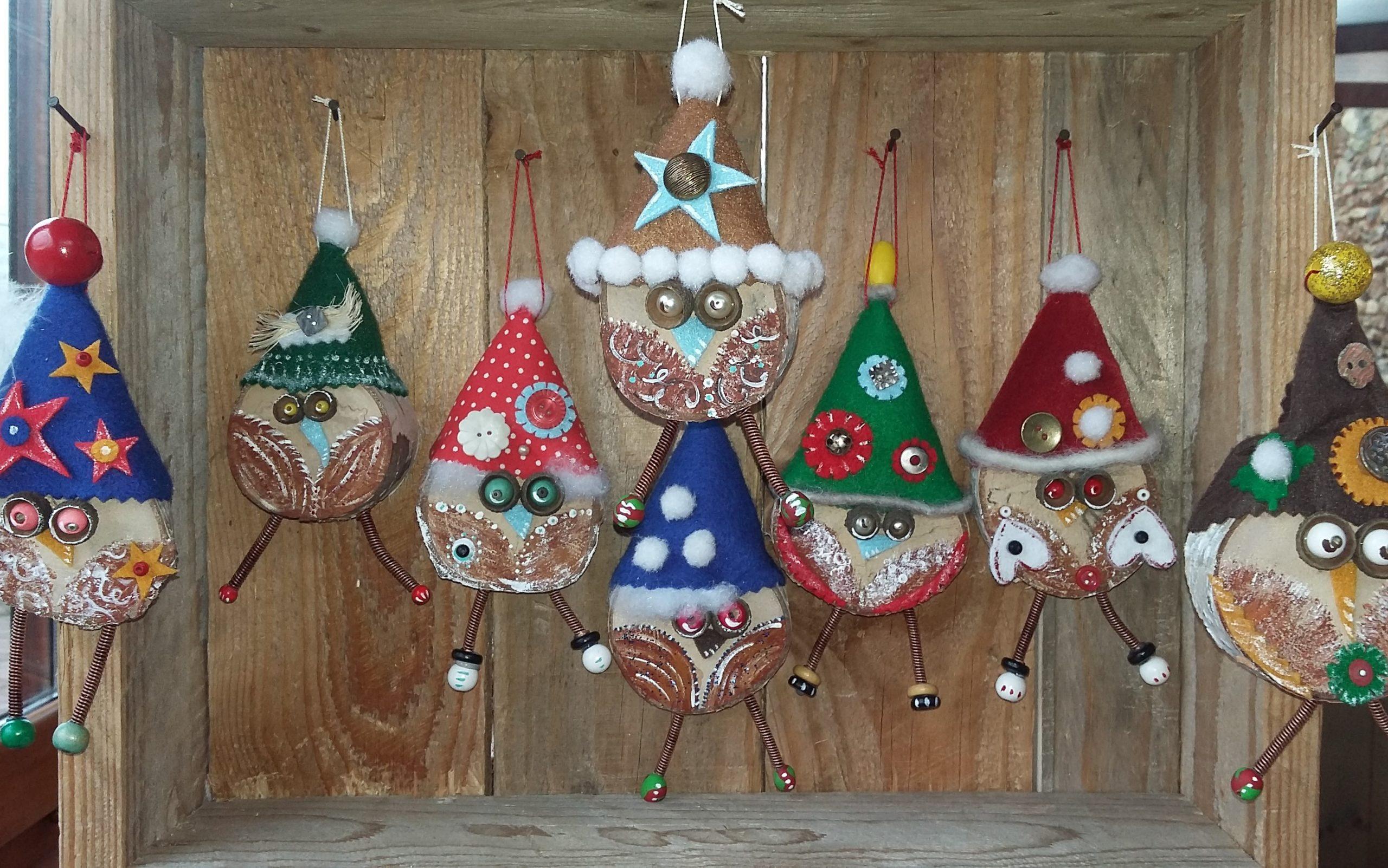 Création suspension chouette décoration