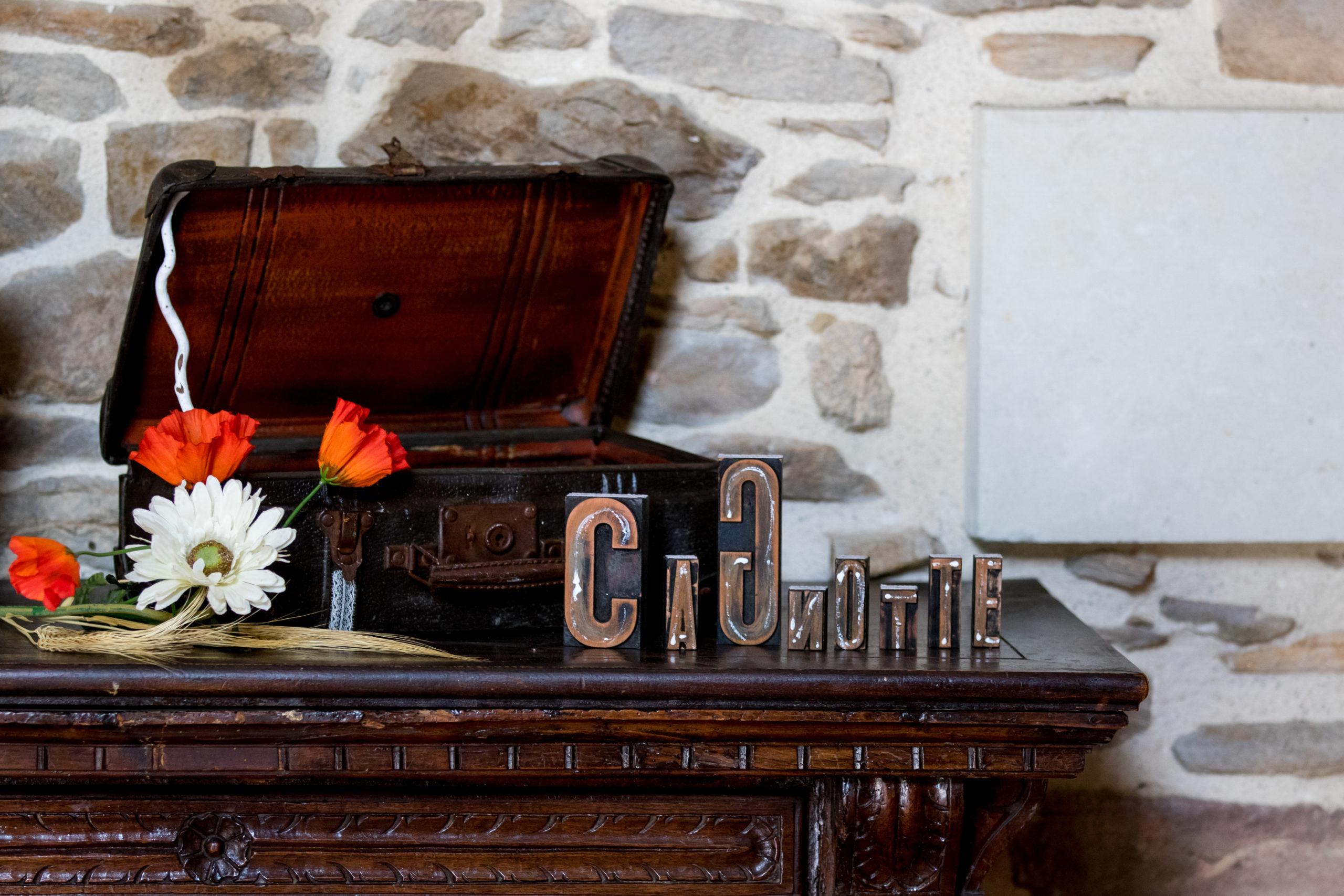 Cagnotte décoration pour mariage