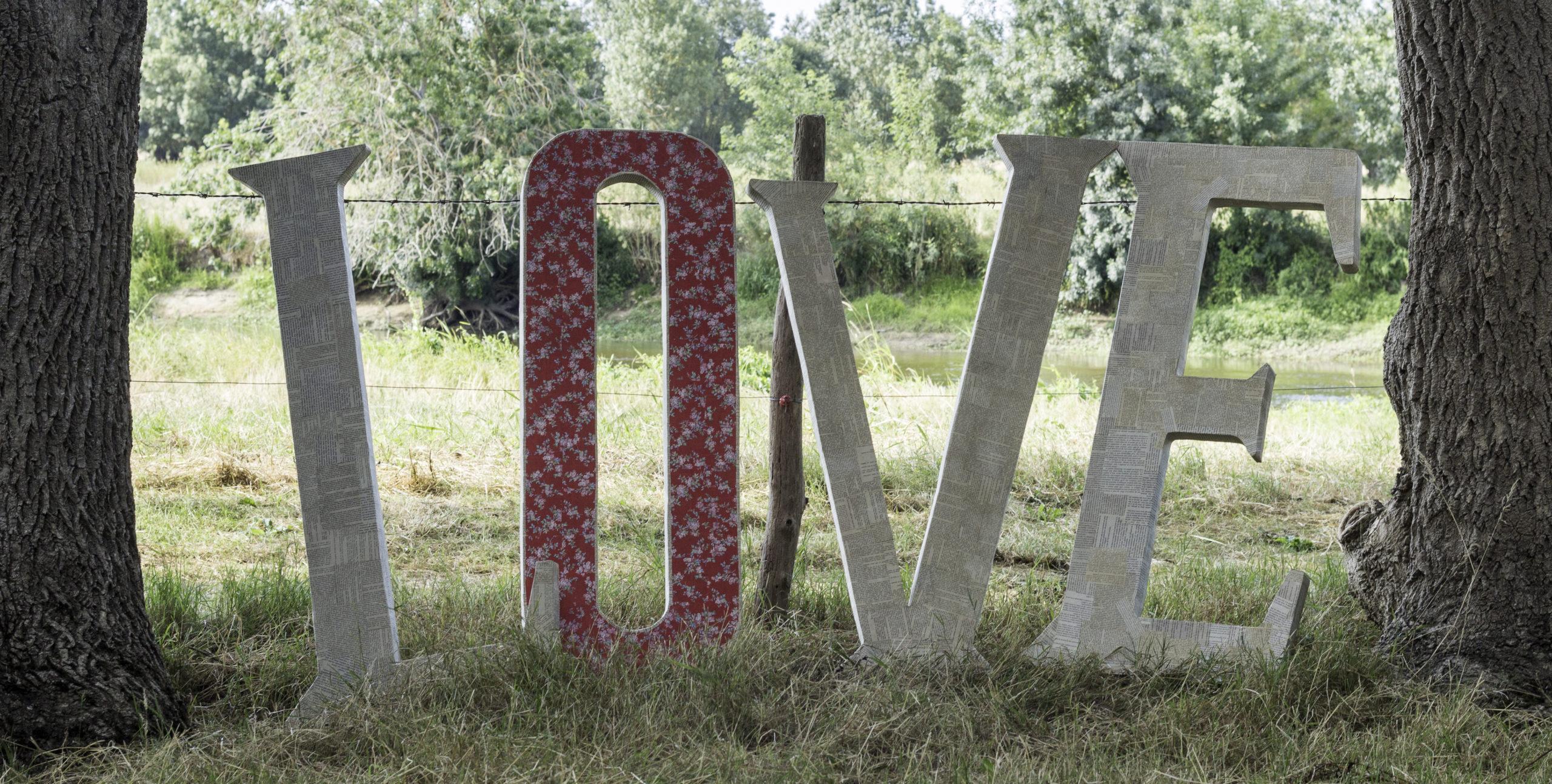 Lettre Love décoration pour mariage