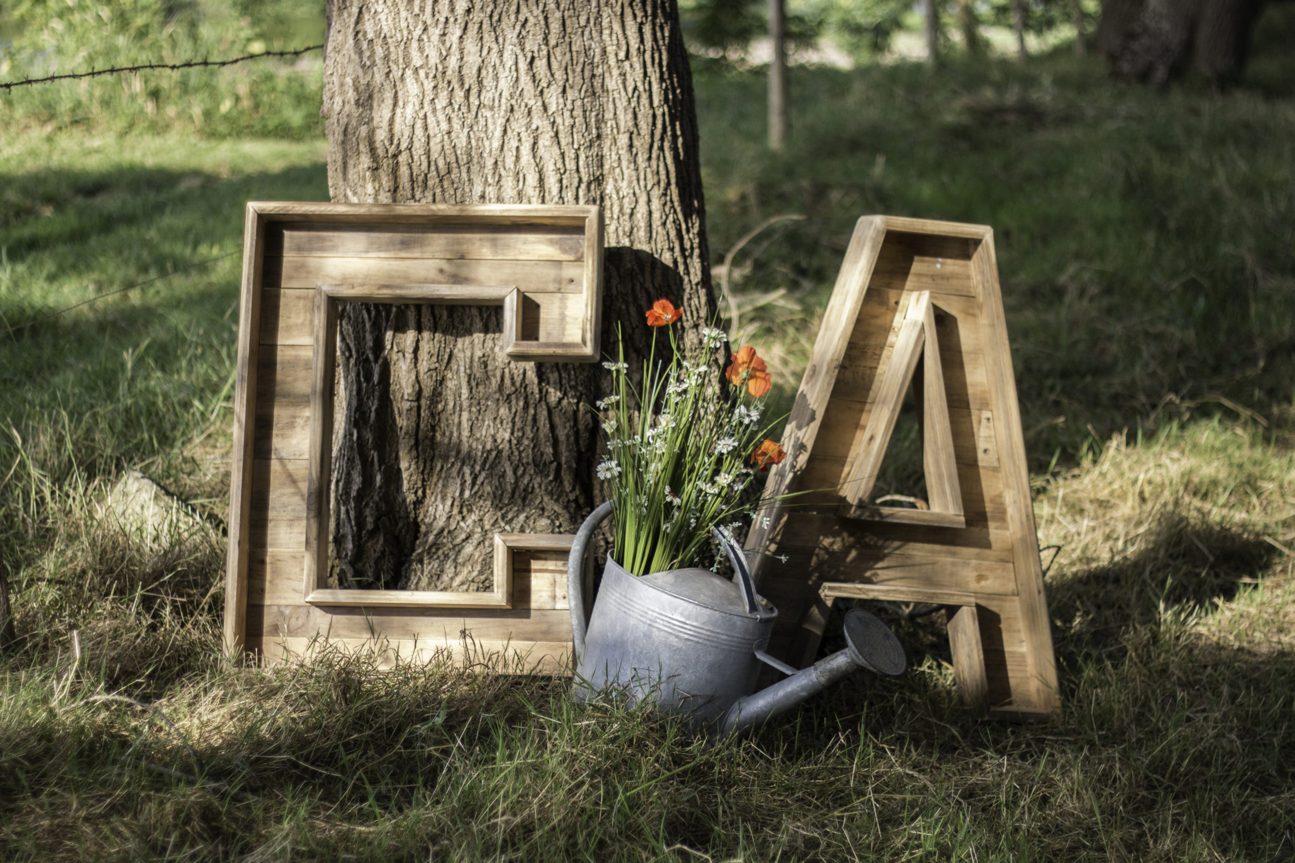 Lettres en bois à fleurir décoration pour mariage