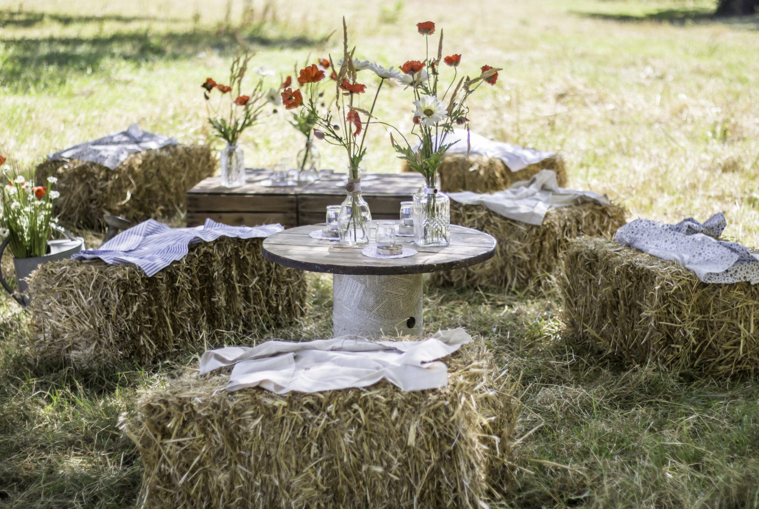 Salon extérieur décoration pour mariage